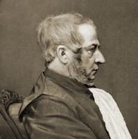 Image: Man sitting in profile.