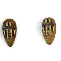 Image: pair of metal cufflinks