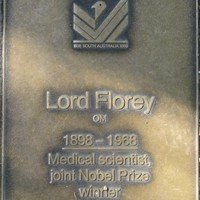Jubilee 150 walkway plaque of Lord Florey