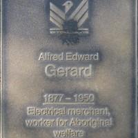 Jubilee 150 walkway plaque of Alfred Edward Gerard