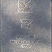 Jubilee 150 walkway plaque of George Hall