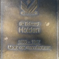 Jubilee 150 walkway plaque of Sir Edward Holden