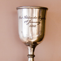 Image: engraved silver cup