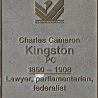 Jubilee 150 walkway plaque, Charles Cameron Kingston