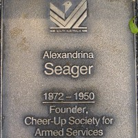 Jubilee 150 walkway plaque, Alexandrina Seager