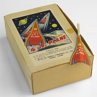 Image: Box showing image of rockets with the label 'jet plane'