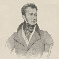Image: Black and white 1826 engraving of Edward Gibbon Wakefield
