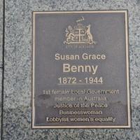 Image: Susan Grace Benny Plaque