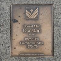 Image: Donald Allan Dunstan Plaque