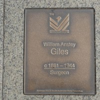 Image: William Anstey Giles Plaque