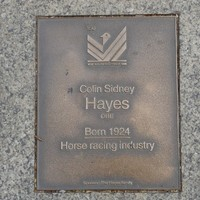 Image: Colin Sidney Hayes Plaque